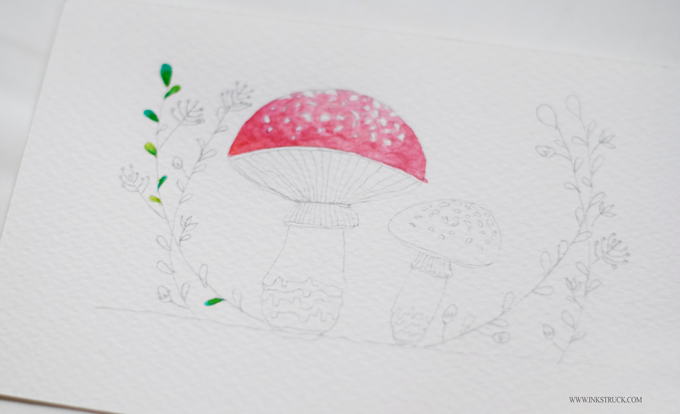 Mushroom illustration by Zakkiya Hamza of Inkstruck Studio