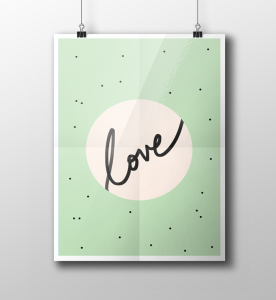 love-typography-printable