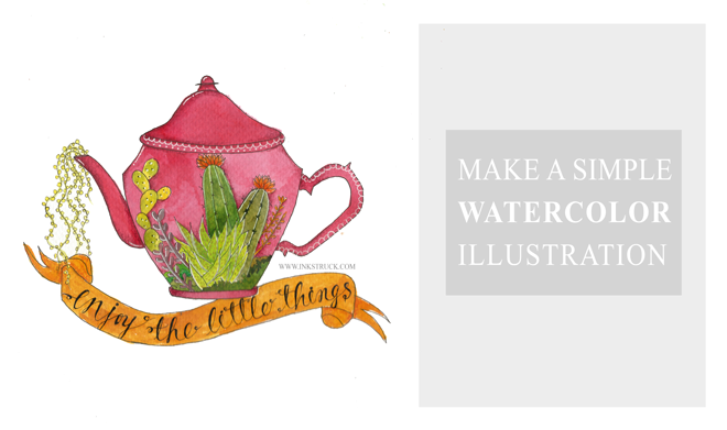 a step by step tutorial on making a watercolor illustration