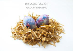 diy galaxy easter egg by inkstruck studio