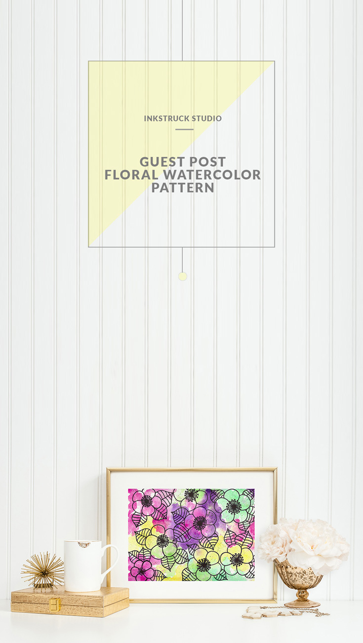 Learn this brilliant technique of painting watercolor floral patterns as explained by Gaby Friedman as a guest post on Inkstruck Studio