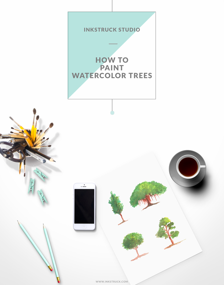 Learn how to paint watercolor four different ways in this first installment of a series of tutorials by Zakkiya Hamza of Inkstruck Studio