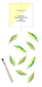 Learn how to paint a simple leaf in watercolors in this tutorial by Zakkiya Hamza of Inkstruck Studio.