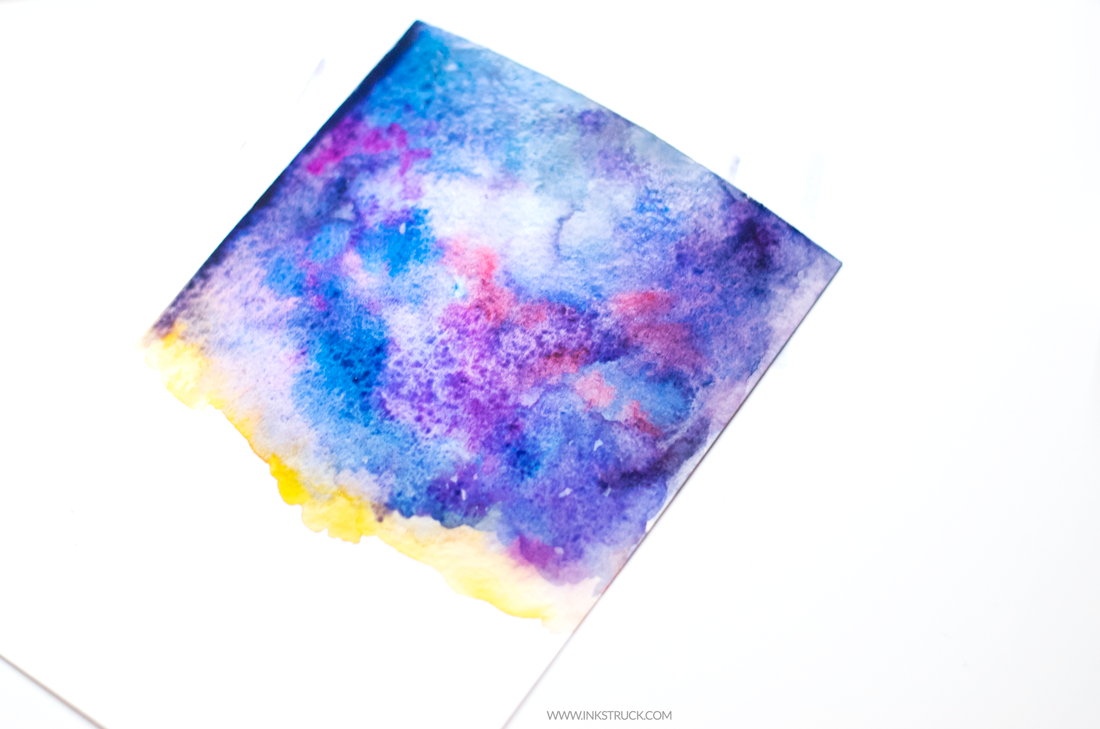 Learn to create a beautiful painting by following this starry night tutorial in watercolor by Zakkiya Hamza of Inkstruck Studio.