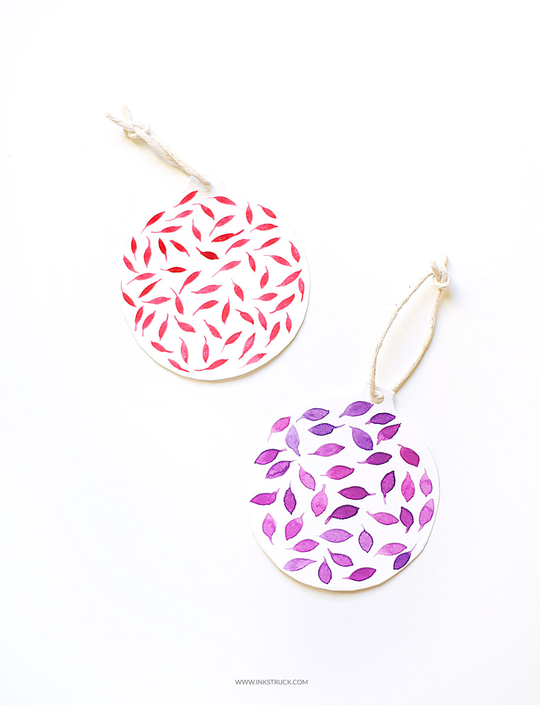 Learn how to make DIY paper christmas ornaments in this easy to follow tutorial by Zakkiya Hamza of Inkstruck Studio.