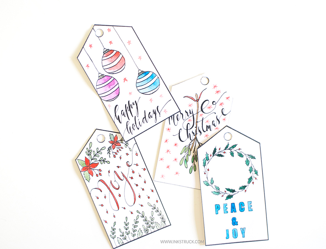 printable christmas gift tags inkstruck studio