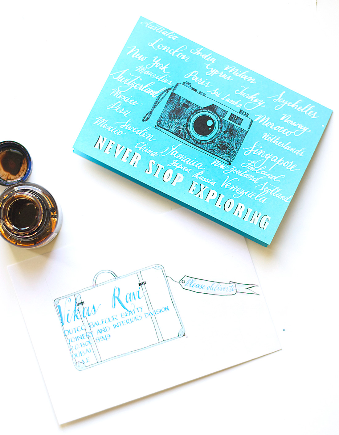 Learn how to create a travel birthday card in this tutorial by Zakkiya Hamza of Inkstruck Studio