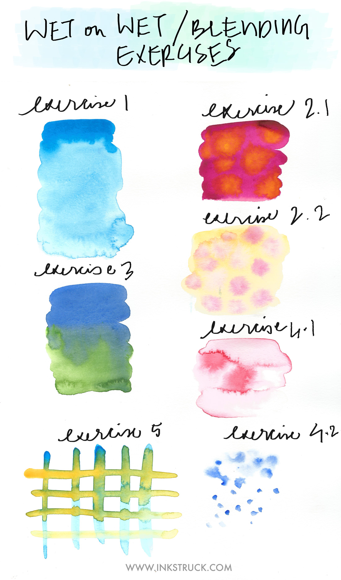 basic watercolor techniques blending inkstruck studio