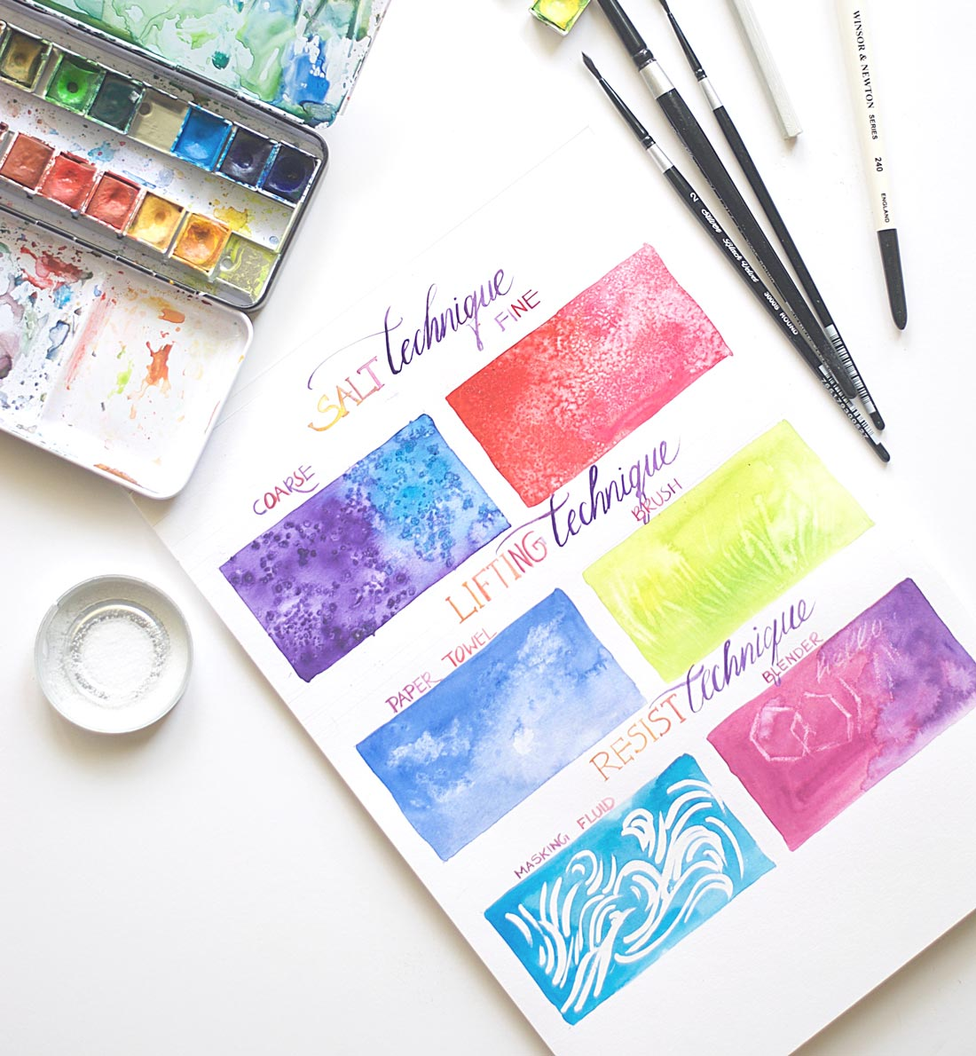 Easy beginner watercolor techniques inkstruck studio for Easy watercolor for beginners