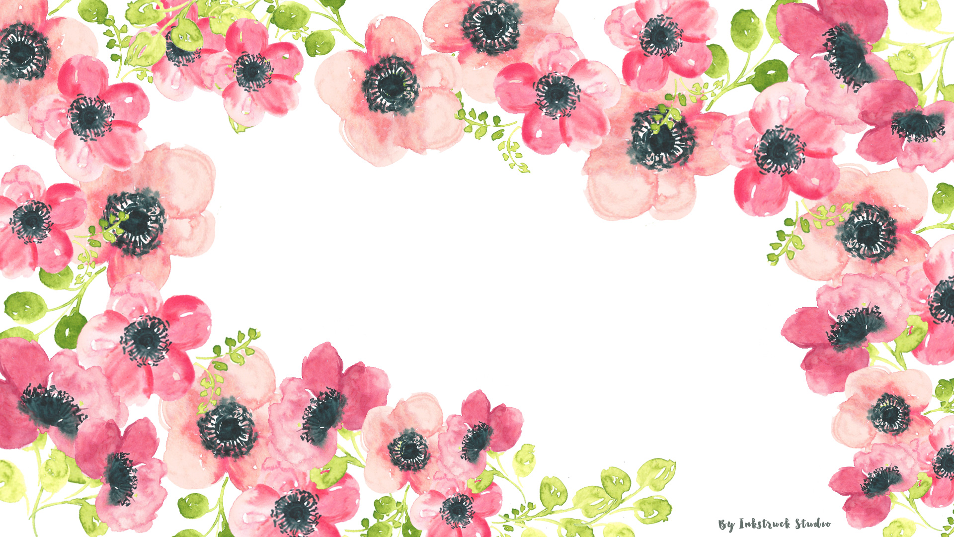 watercolor floral desktop wallpaper
