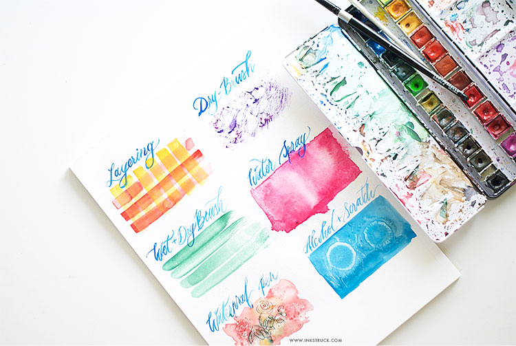 easy watercolor techniques inkstruck studio