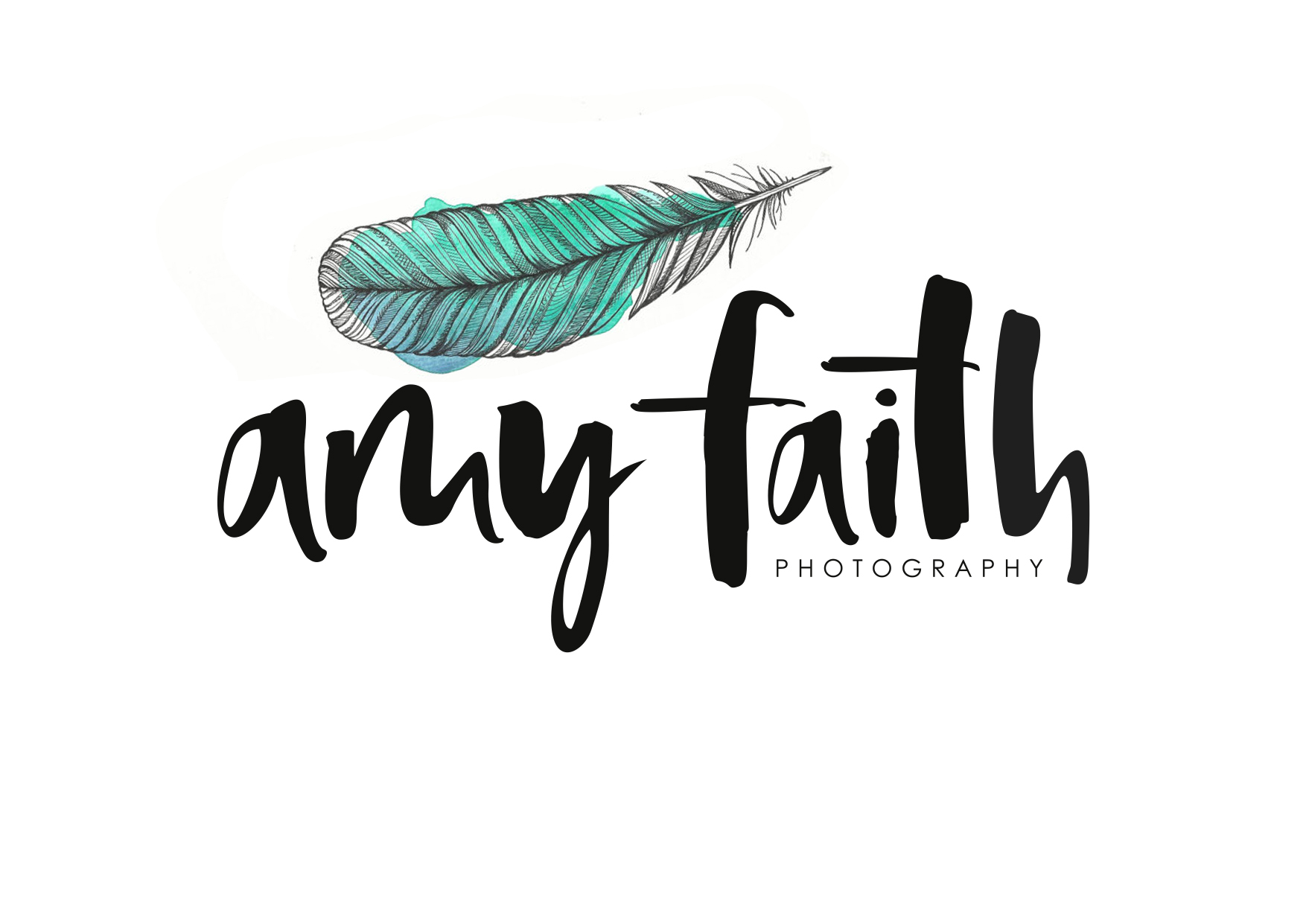 Amy Faith photography custom watercolor logo in collaboration with Maeve of Too Wordy - www.inkstruck.com