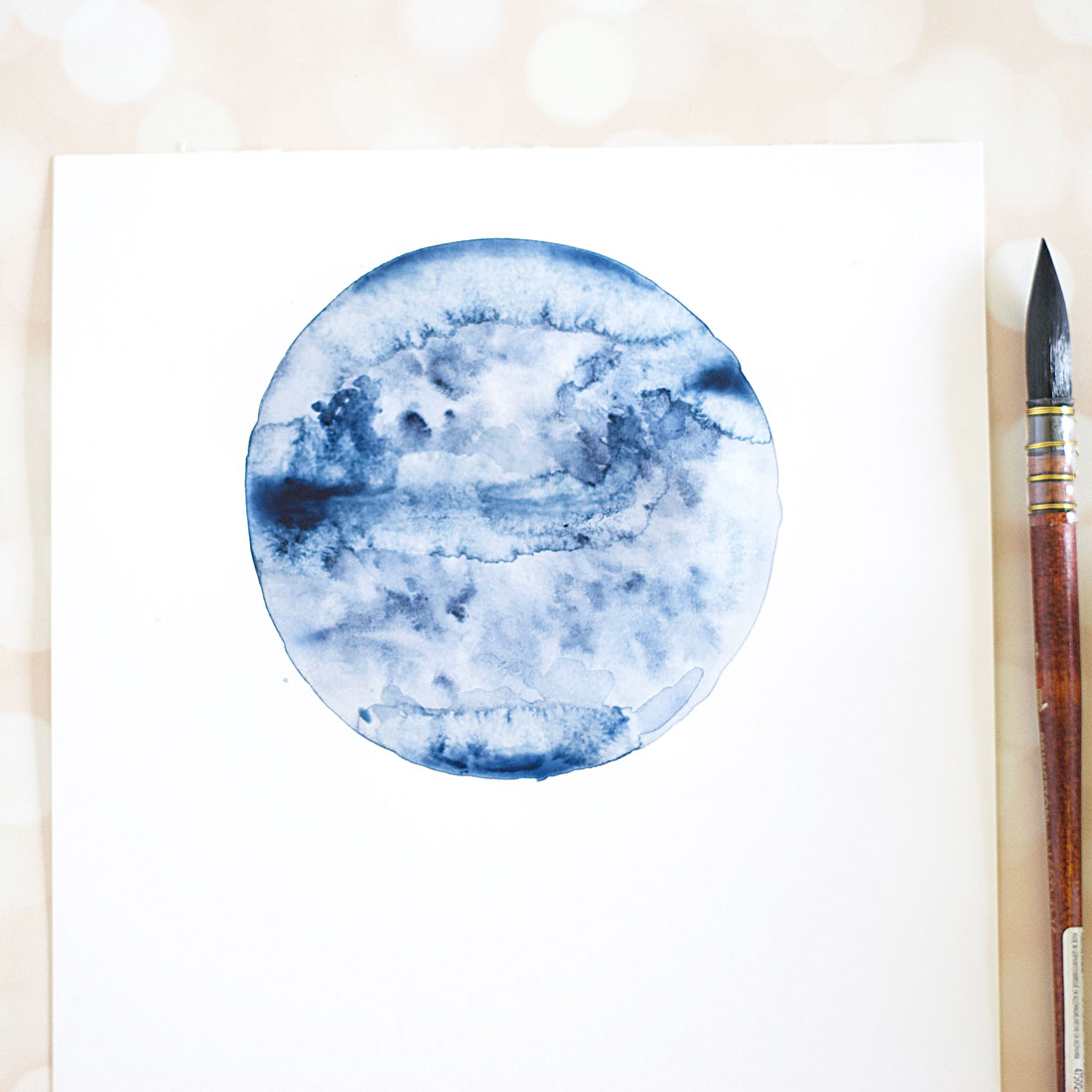 Watercolor Moon Diy Inksrtuck Studio