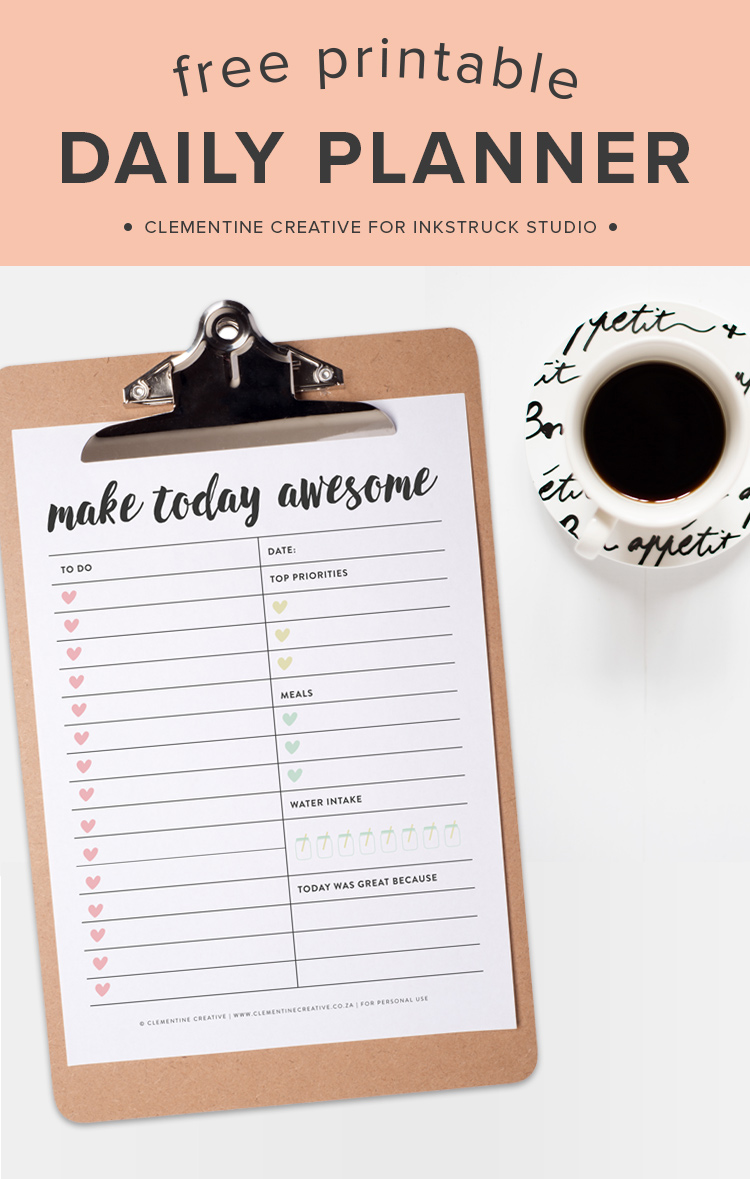 Ever feel like the day is in charge of you? Set that right by using this free printable daily planner to plan your day!