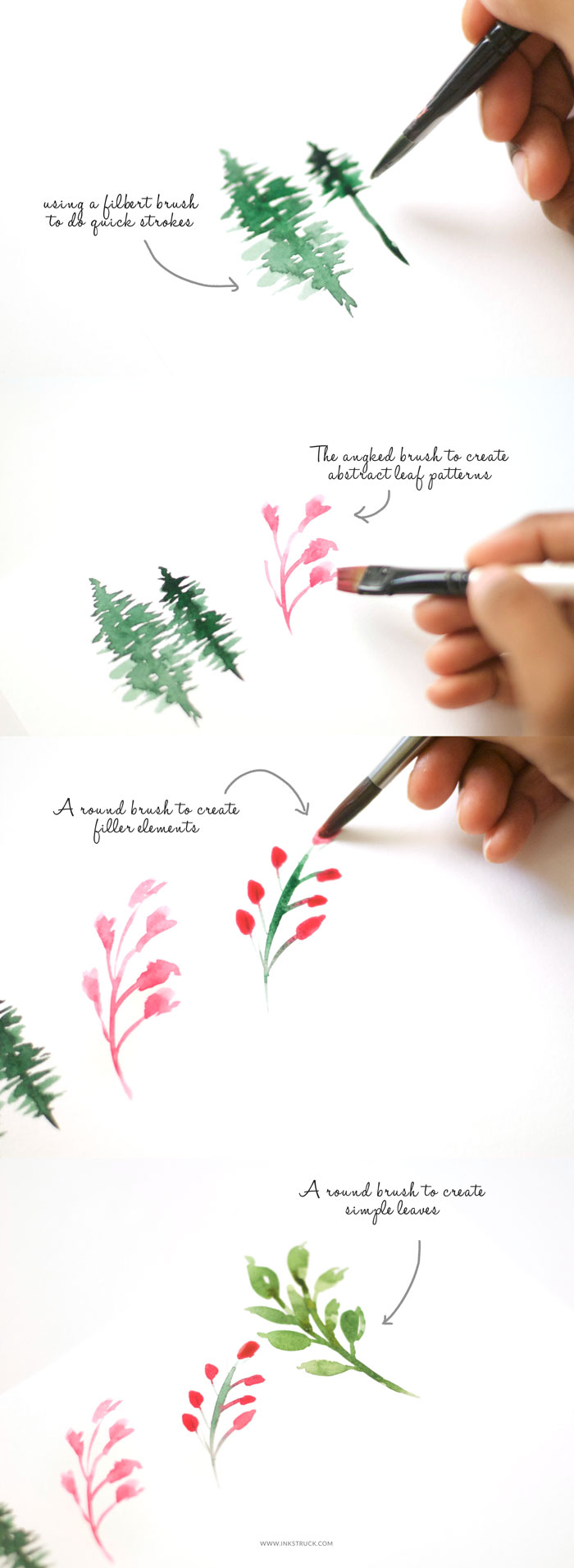 Learn what mark making in watercolors is about and how it will help you improve your skills. - Inkstruck Studio