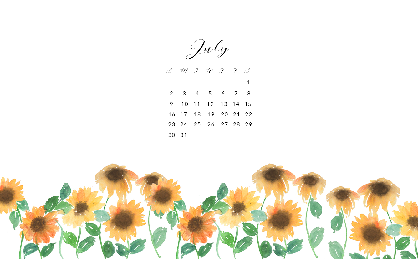 Download The Choice Of Your Free July Watercolor Wallpapers By Clicking Links Below