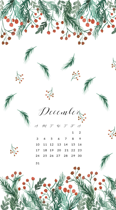 December Watercolor Wallpaper For Desktop Free