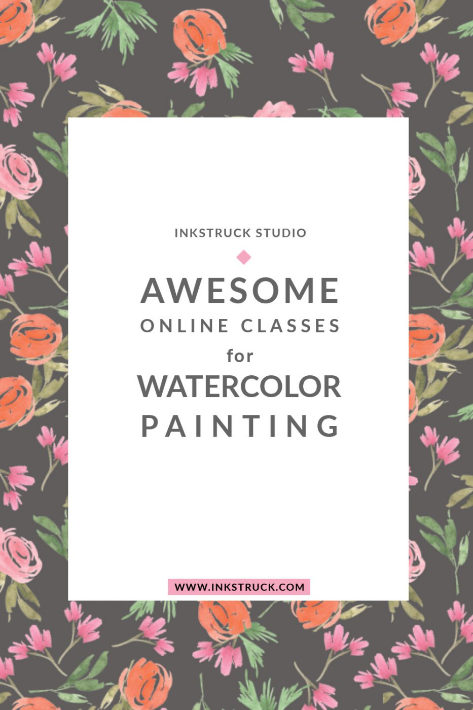 Learn the art of watercolor painting with these awesome online watercolor classes on Skillshare by Zakkiya Hamza of Inkstruck Studio