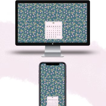 Download free April 2020 watercolor wallpapers for desktops and mobiles.