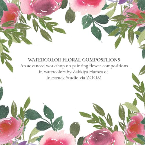 Advanced watercolor florals compositions online workshop