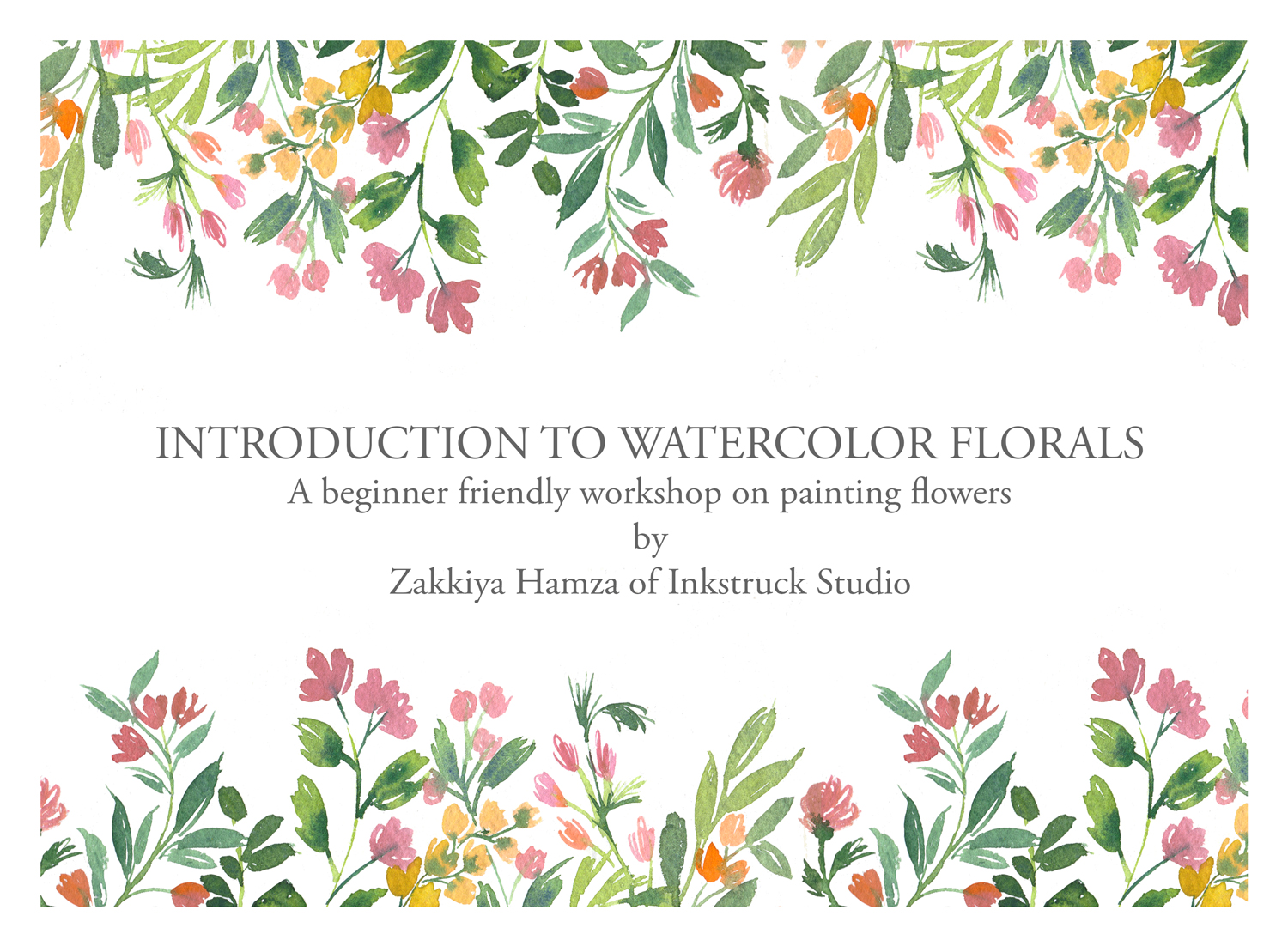 Introduction to watercolor florals online workshop
