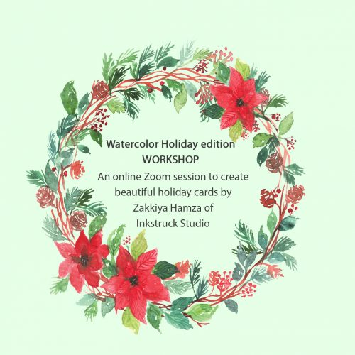 Holiday watercolor werath online workshop